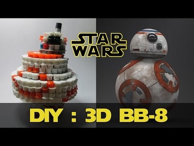 DIY: 3D BB-8 from Star Wars | Bead Sprites (Perler.Hama Beads)