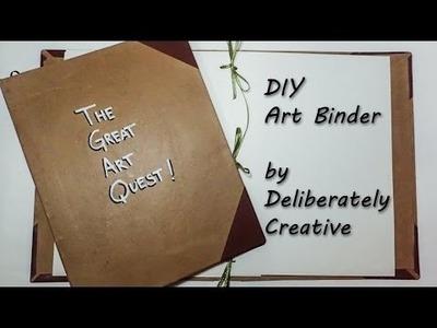 DIY, Art Quest Binder, Journal, no metal clips!