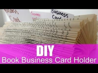 DIY BOOK BUSINESS CARD HOLDER