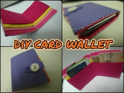 DIY Card Wallet (Made by felt) | How to ~Nany Kefly