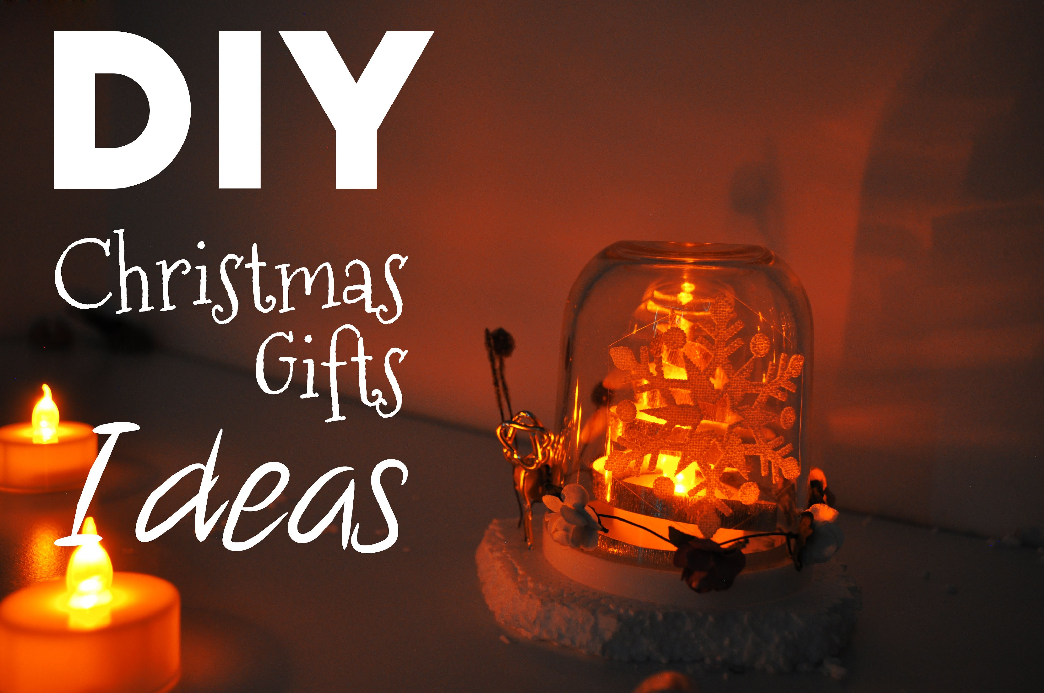 DIY Christmas Gift Ideas- Candle holder using Nutella Spread Jar!