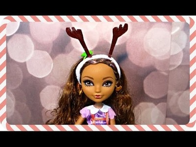 DIY Doll Reindeer Ears | Day 8 #25DaysOfCraftMas