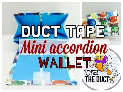 DIY: How to make A Duct Tape  Mini Accordion Wallet