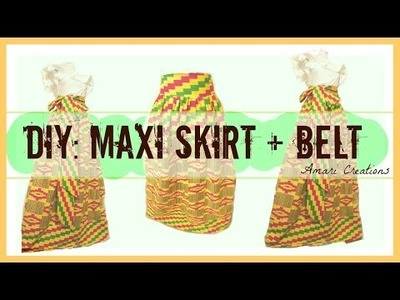 DIY: How to Make a Gathered Maxi Skirt + Belt.Amari Creations