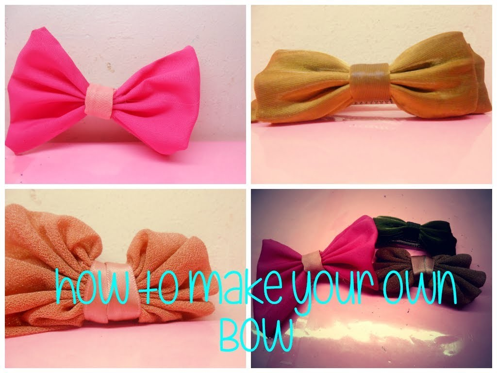DIY: how to make your ow hair bow