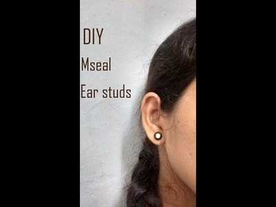 DIY: M seal ear studs(easy way)