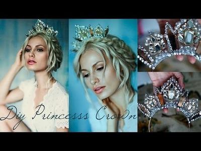 DIY Princess Crown using a Necklace