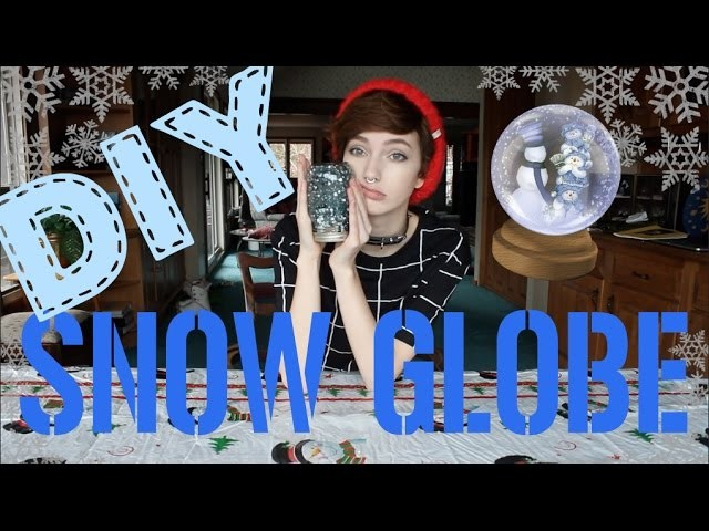 DIY Snow Globe ~ TOO MUCH GLITTER!