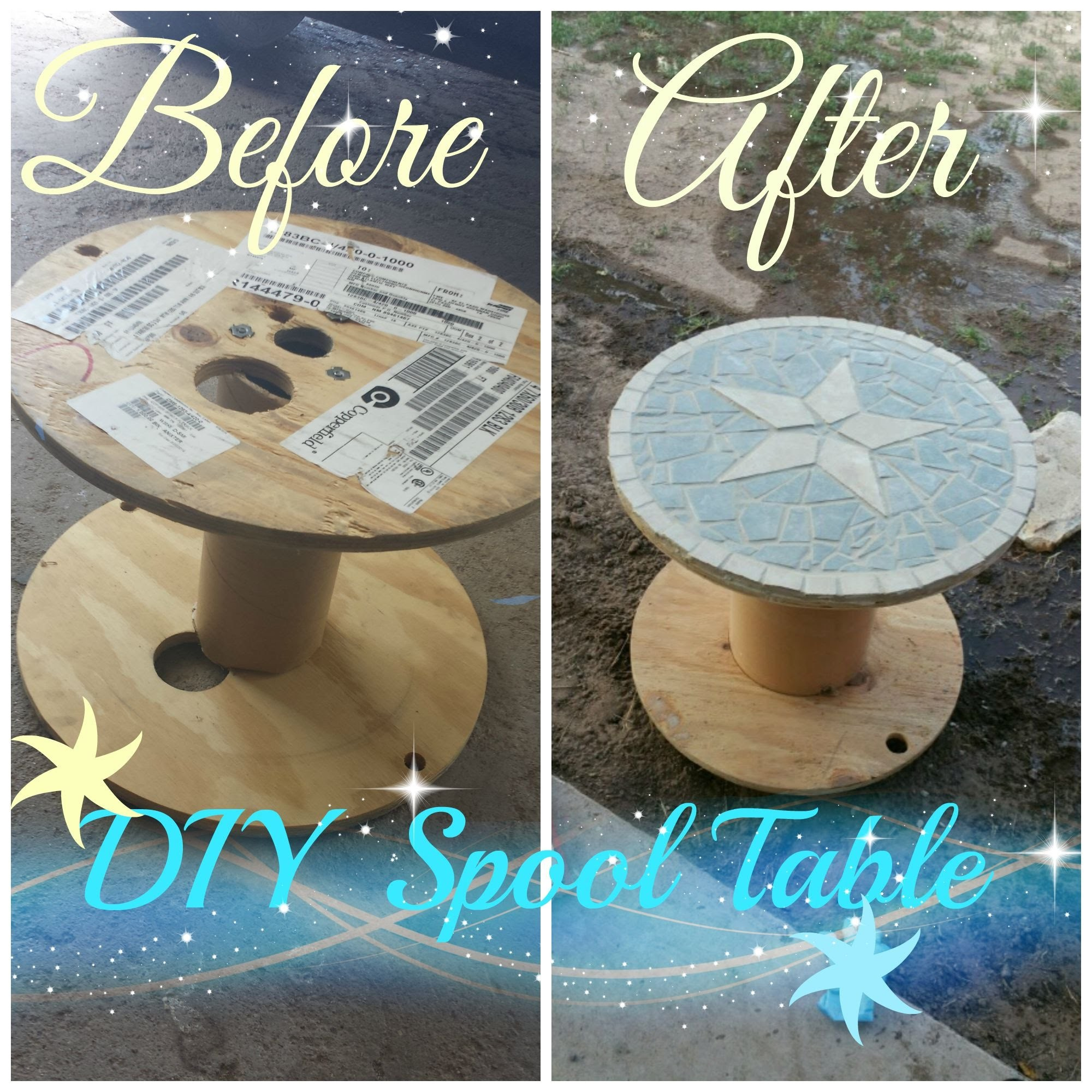 DIY Spool Table Star design