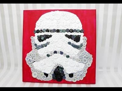 DIY Storm Trooper Button Art Tutorial