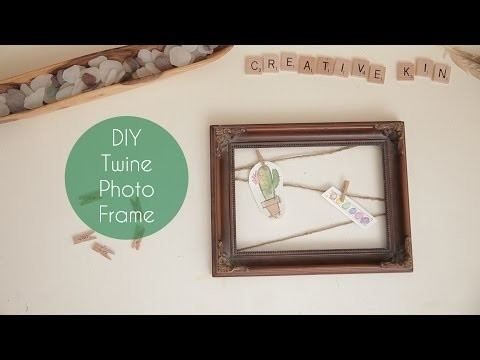 DIY Twine Photo Frame