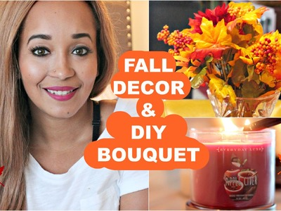 Fall Decor & DIY Bouquet (UNDER $20)!| Kym Yvonne