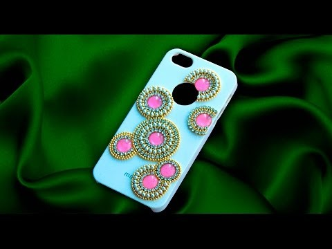 How to decorate mobile case | DIY cell phone case |