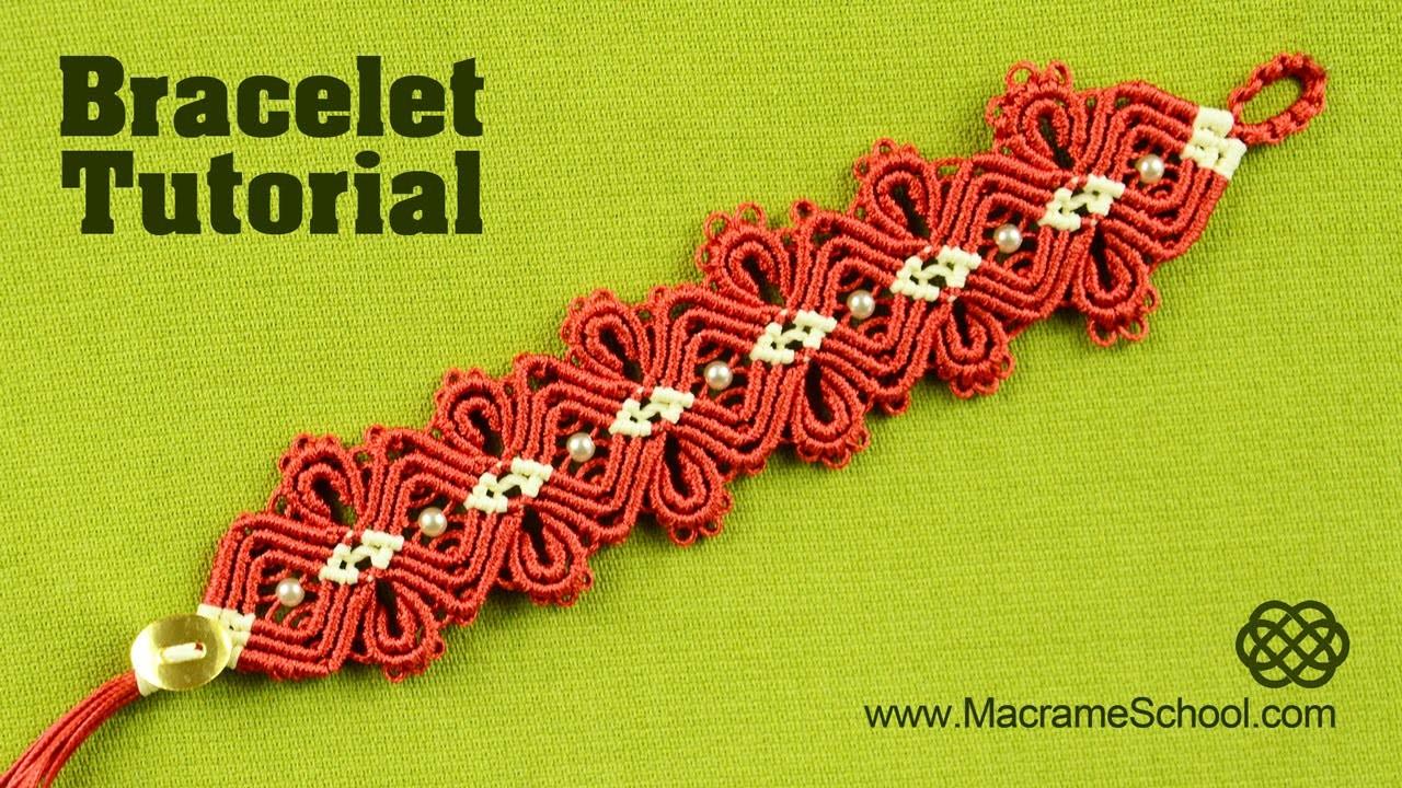 Macramé Diamond Flower Bracelet Tutorial | Macrame School