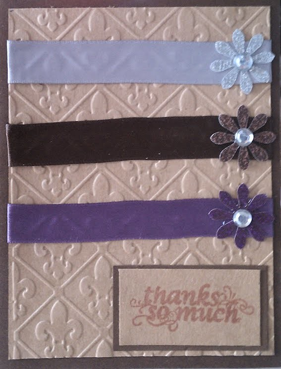 Thanks So Much Ribbon Handmade Card