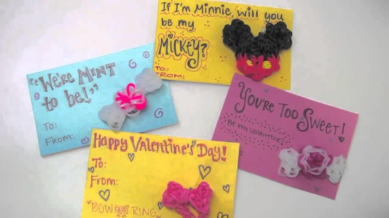 TutorialsByA's DIY Rainbow Loom Valentine's Day Cards