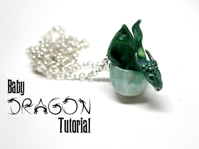 Baby Dragon Egg Polymer Clay Pendant Tutorial | Fantasy Jewellery.Jewelry DIY
