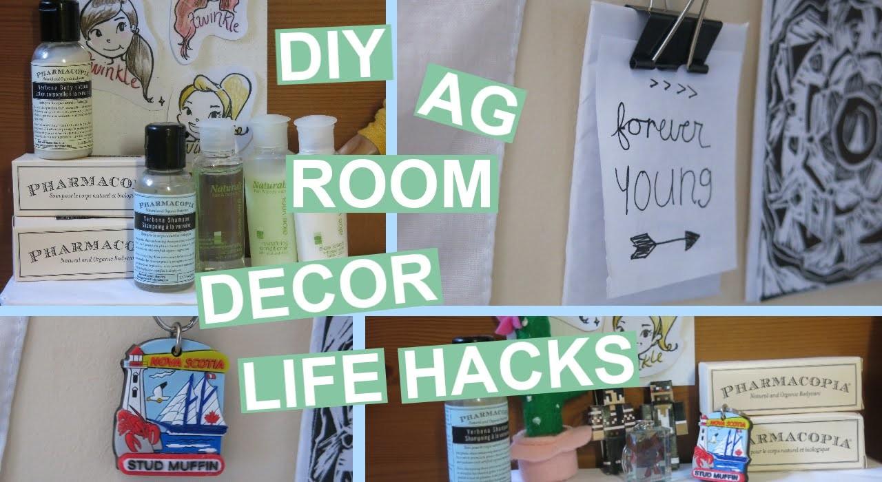 DIY American Girl Room Decor LIFE HACKS!