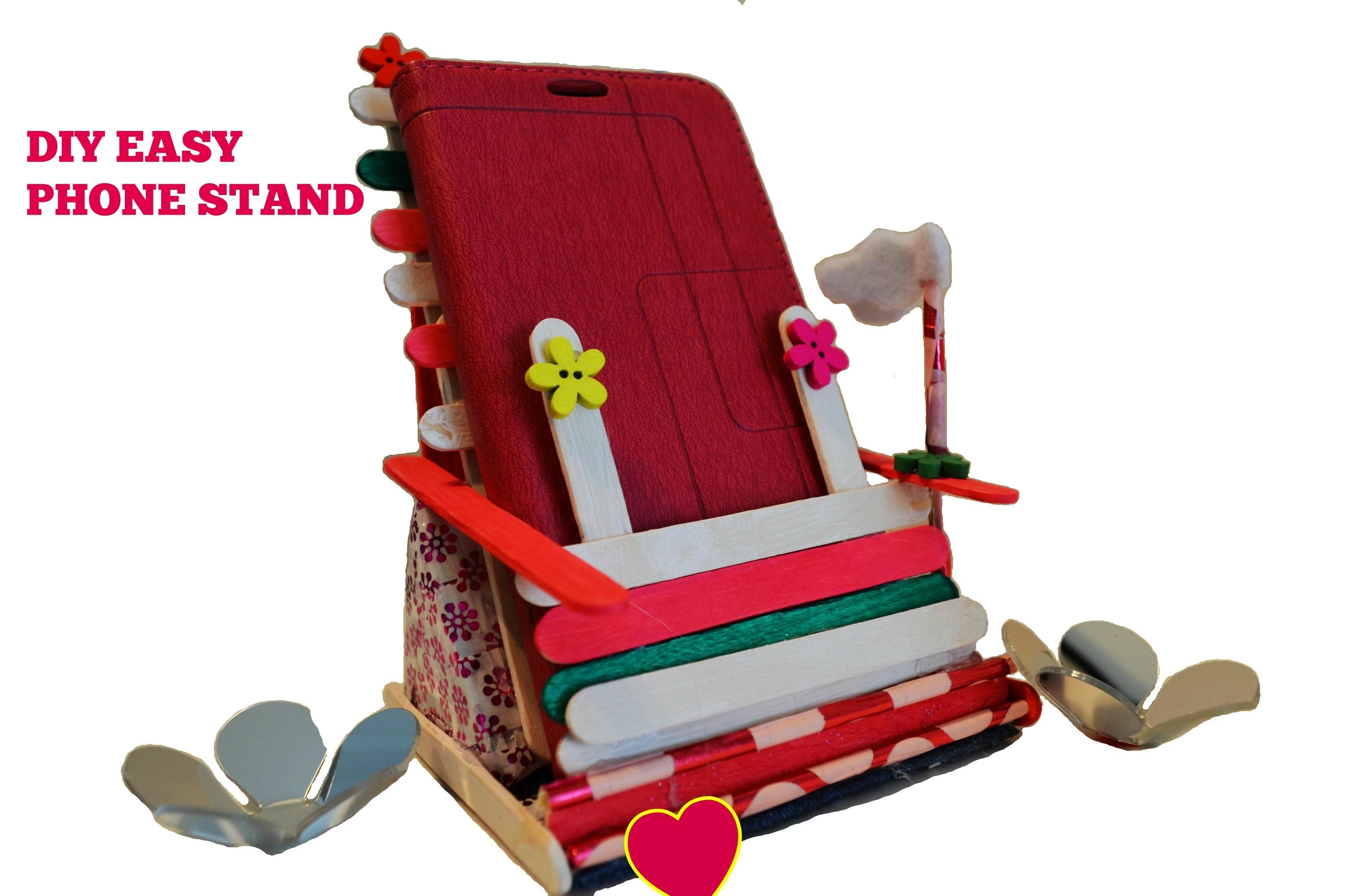 Diy Crafts Diy Phone Standholder Using Popsicle Sticks Cardboard