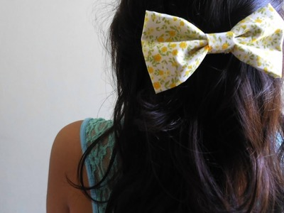 DIY - Fabric hair bow. NO SEW!