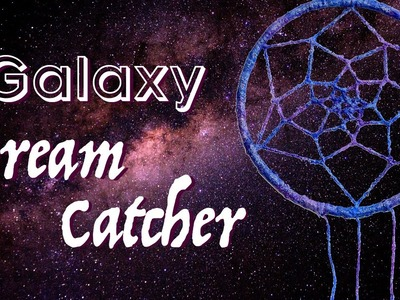 DIY Galaxy Dream Catcher. How to make a glow in the dark dreamcatcher. DIY Mother's Day Gift?