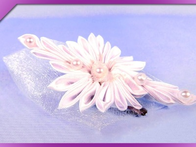 DIY Hair clip for First Communion, wedding (ENG Subtitles) - Speed up #212