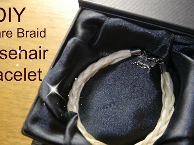 DIY how to make a horsehair bracelet square braid cruelty free glue
