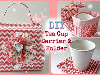 DIY Tea Cup Carrier & Holder