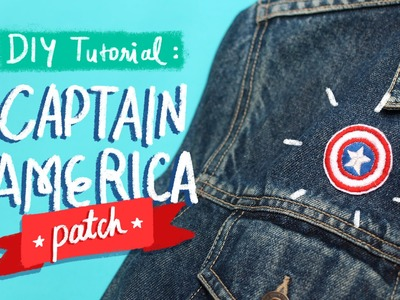 DIY Tutorial: Captain America's Shield Patch   Today's Attempt