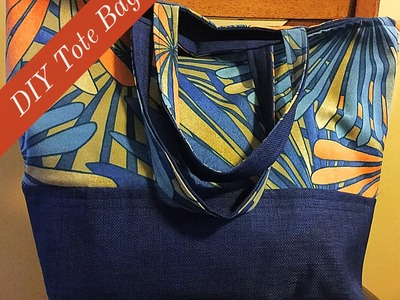 DIY Tutorial   How To Sew A Lined Tote Bag For Beginners