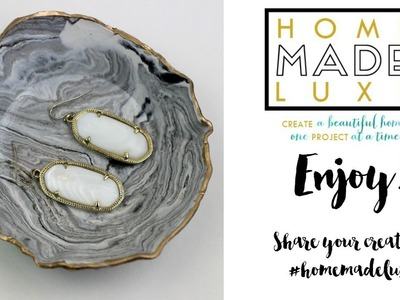 Home Made Luxe DIY Marbled Ring Dish Tutorial