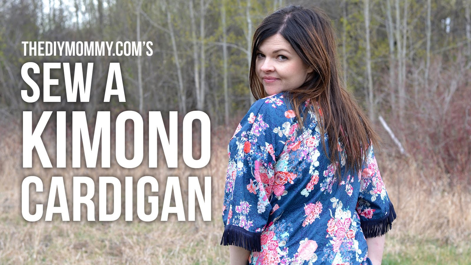 How to sew a DIY kimono cardigan with a fringe