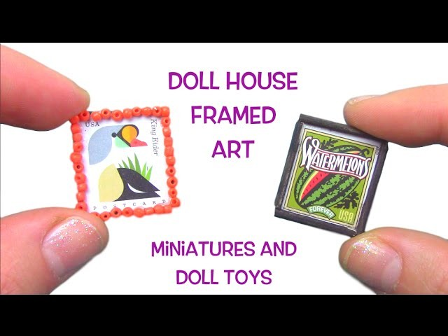 Miniature Framed Art for your Dollhouse! DIY Mini Art! How to decorate your doll house