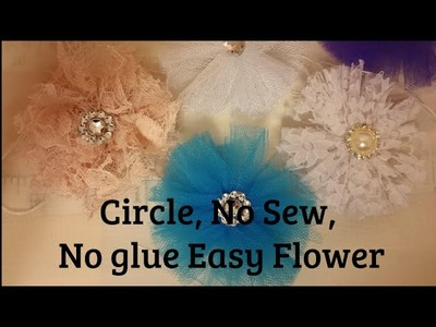 Wrap Flower, no sew, Shabby Chic tutorial, fabric, DIY 4s1, Easy,  by Crafty Devotion