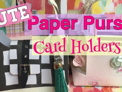 CUTE & Easy Paper Purse Card Holders. Mothers Day DIY Gift Ideas| I'm A Cool Mom