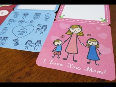 DIY : #131 Mother's Day Card Using TEMPLATE ♥