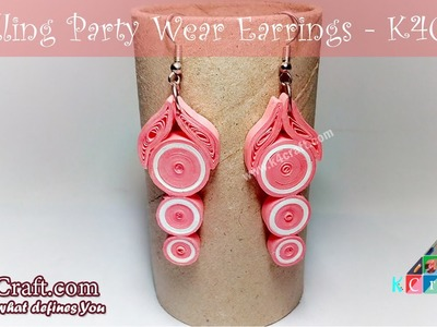 DIY Beautiful Quilling Paper Party Wear Earrings - K4Craft