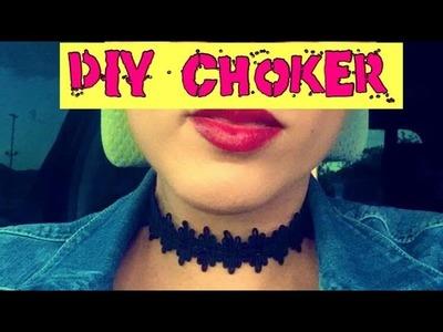 DIY easy choker necklace