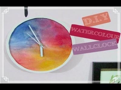 DIY Easy Pinterest Wall Clock || Watercolours
