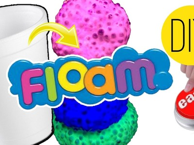 DIY | Floam - HOW TO MAKE A FOAM SLIME TOY!!!