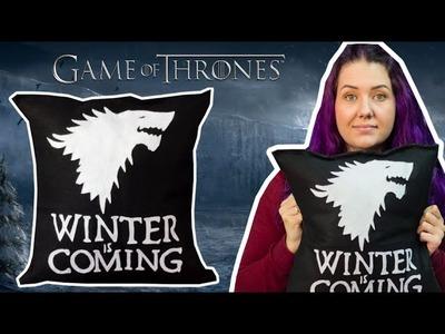 DIY Geek: Almofada Personalizada Game of Thrones - House Stark