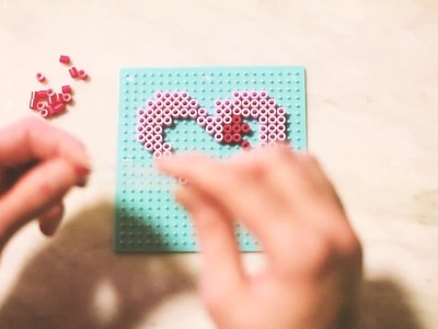 DIY: Heart Perler Bead Key Chain | Mother's Day Gift Idea