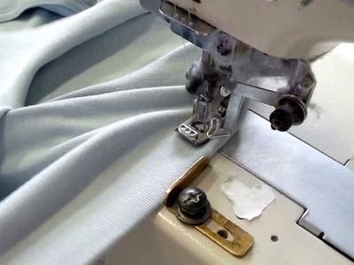 DIY Kurs szycia na dwuigłówce podwijanie koszulki Sewing course. Sewing the bottom of the T-shirts