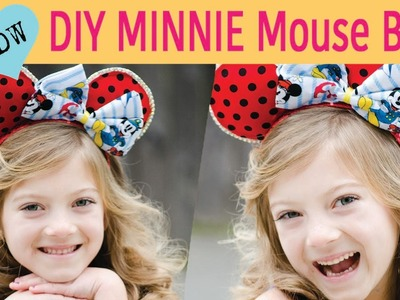 DIY Minnie Mouse Bow for Mickey Ears FT. Brylie Gen