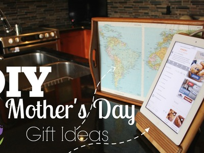 DIY Mother's Day Gifts - Tray & iPad.Recipe Book Stand