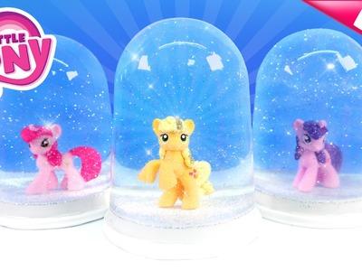 DIY My Little Pony GLITTER GLOBES! My Little Pony Snow Domes - MonsterKids