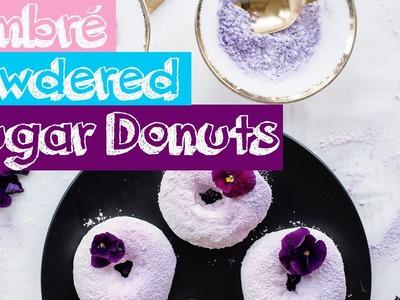 DIY Ombre Powdered Sugar Donuts