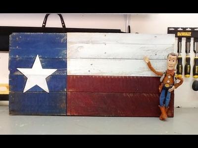 DIY  pallet wood Texas Flag rustic decor