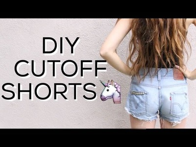 DIY TUMBLR CUTOFF SHORTS | Distressed, Studs, Patches!