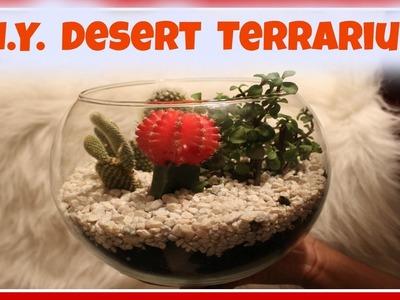 Easy DIY Desert Terrarium | Bella Nicole